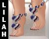 *L* 4thJuly Jewel Feet