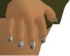 Dainty Jewel gray nails