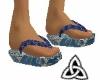 Blue Kimono shoes