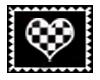 Checkerd Heart Stamp