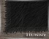 H. Black Fur Rug
