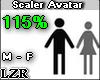 Scaler Avatar M - F 115%