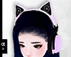 Ⓐ Bk Purple Headphone