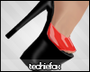 Fox| Red Latex Mules