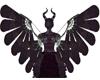 Metal Maleficent Wings