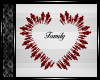 Family Sign ~ Red & Blk