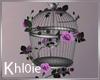 K bird cage w roses