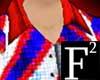 F2 RedWhiteBlue Top(M)