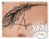 (A) Aoi Feather Tattoo
