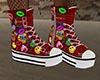 GL-Tegan Red Sneakers