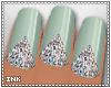 INK Blue Dazzle Nails
