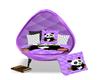 40% purple panda chair
