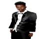 TEF SHINNY BLACK TUX TOP