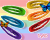🦋 Rainbow hair clips