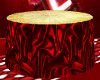 Red/Gold Cake Table