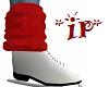 Scrunch sock top RED