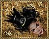GOTH TOPHAT BLACK/PURPLE