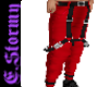 Red SuspenderPants