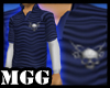 M Skull Blue Polo Shirt