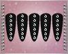 R- Black&Silver Nails