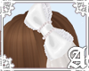 Dolly Cat Bow~ White