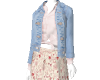 Jean Heart skirt outfit