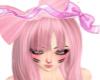 kawaii long pink hair