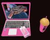 Pink Laptop + Coffee