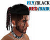 FLY/BLACK/RED/HAIR