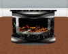 Black marble fire place