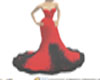 red=dresses