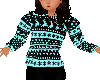 Holiday sweater teal