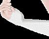 B! White Arm Warmer M