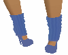 Blue LegWarmer Shoes