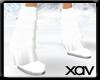 [X]White Furry boot