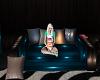 Sofa pallet blue