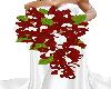 red weddingbouquet