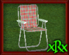 Metal Lawn Chair Red