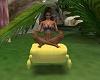 pouf volant yoga