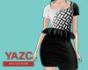 [ZY] Monochrome Dress