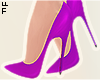 |L Purple Pumps