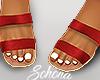 ṩ Brea Sandals Red