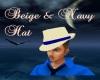 Begie & Navy Hat
