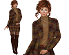 TF Fall Plaid Suit Brown