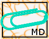 Teal Paperclip M/F {MD}