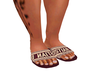 Red Oblique Sandals