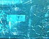 teal Glass Water Wall