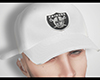 Raiders White Cap