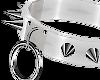 White Spike Ring Collar