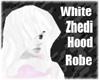 White zhedi hooded robe